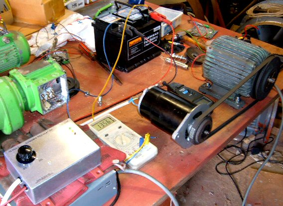 Testing the unit with a real battery and variable source